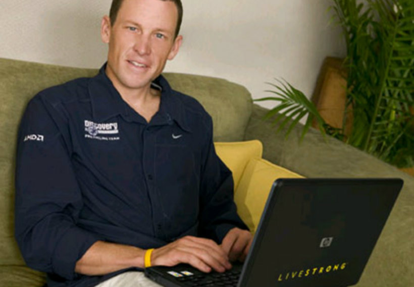 Lance armstrong notebook