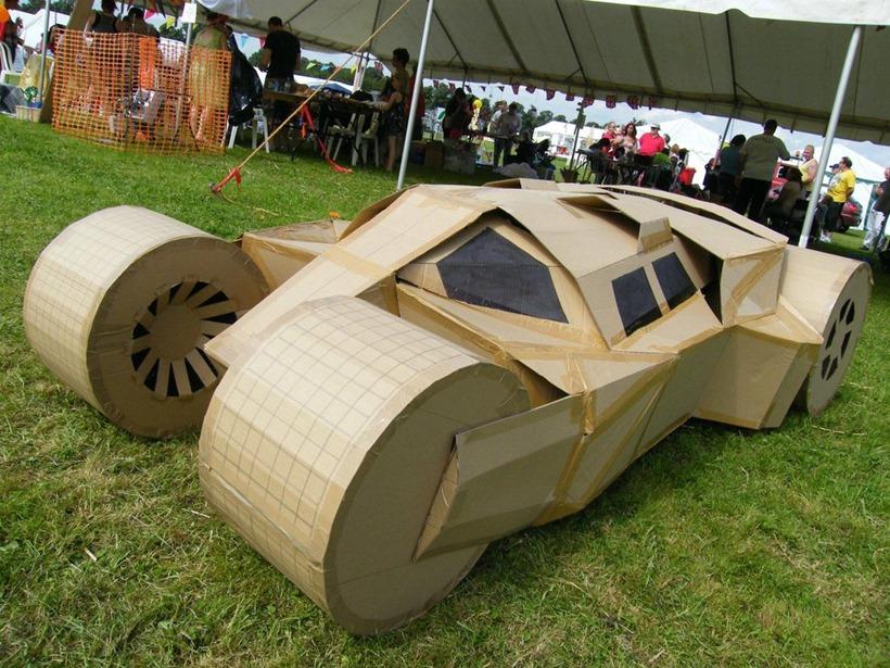 A cardboard batmobile... SNAKE WOULD BE SO PROUD