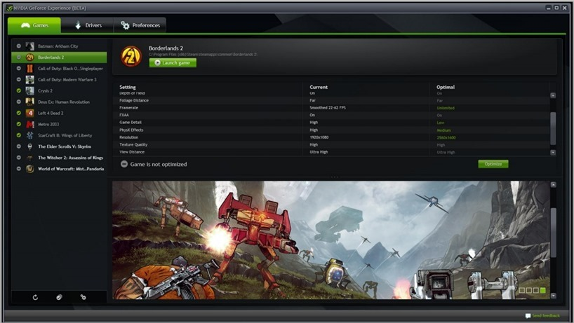 GeForce Experince getting game streaming sharing
