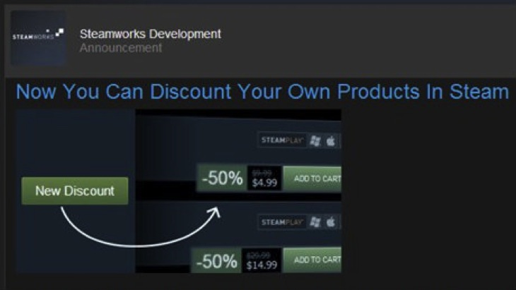 Steam dev discount