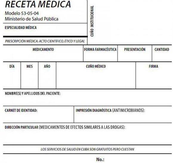 formato para receta medica