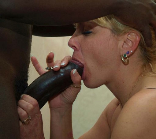 black granny sucking dog cock