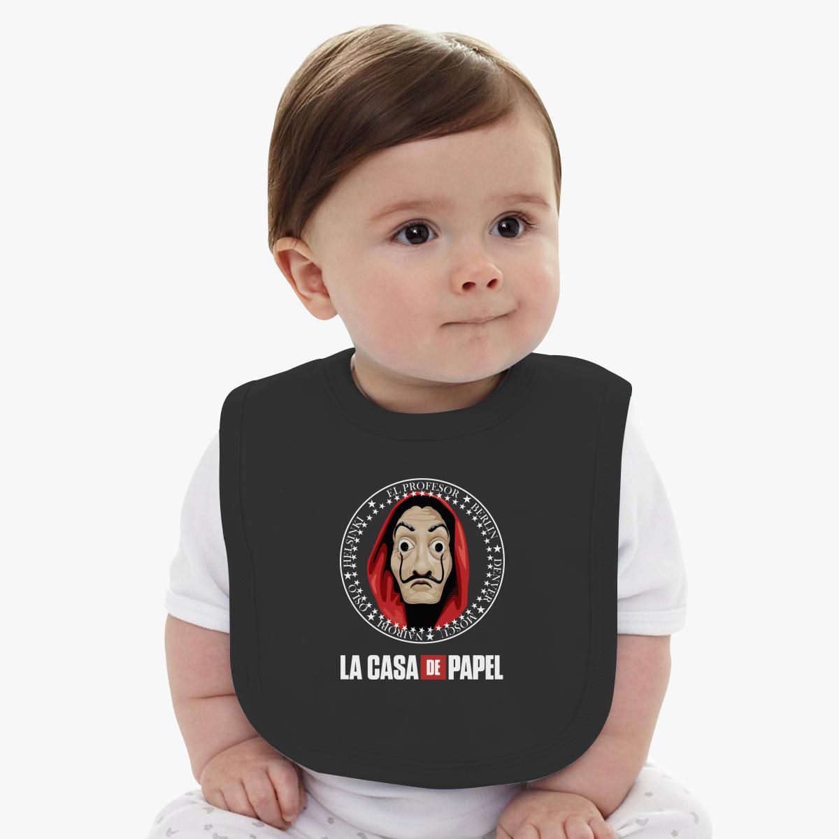 Baby Model Berlin La Casa De Papel Baby Bib Customon