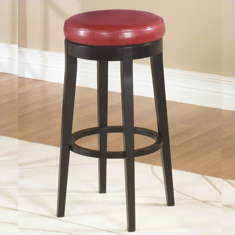 "Sofas With High Back Armen Living 26"" Round Backless Swivel Counter Stool In"