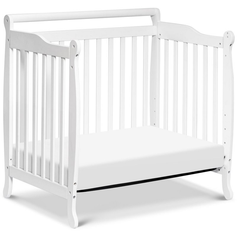 Black Friday Convertible Sofas Davinci Emily Mini 2-in-1 Convertible Wood Baby Crib In