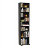 "55"" Slim Media Storage Tower in Espresso"