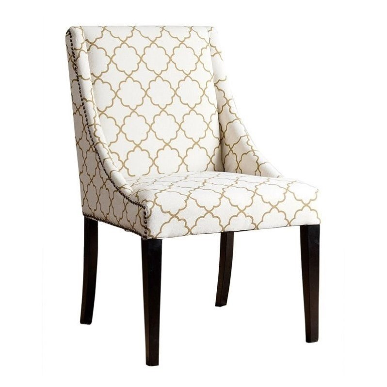 Abbyson Teena Nailhead Upholstered Dining Chair Br Dc