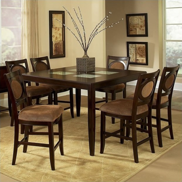 steve silver company montblanc 7 piece counter height dining set
