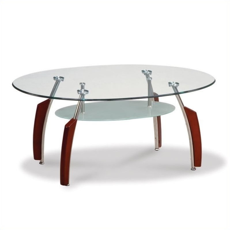 Couchtisch Oval Glas Global Furniture Usa Francis Oval Coffee Table With Glass