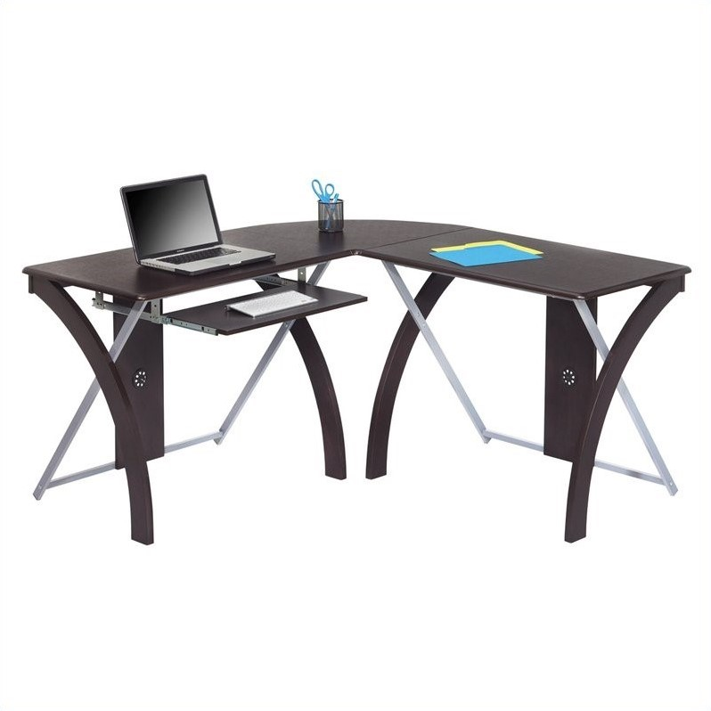 L Shaped Computer Desk In Espresso Xt82l - Home Depot Garden Furniture Clearance