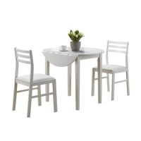"3 Piece Dining Set with 36"" Diameter Drop Leaf Table in ..."