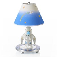 Guidecraft Rocket Lamp in White and Blue - G88307