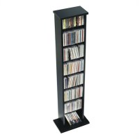 "51"" Slim CD DVD Wall Media Storage Rack in Black - BMA-0160"