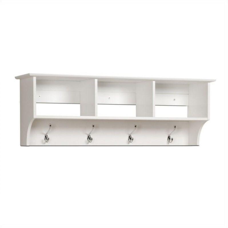 White Cubbie Shelf Wall Coat Rack For Entryway Wec 4816