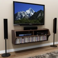 Wall Mounted Home Entertainment Console in Espresso - ECAW ...