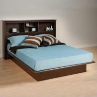 Queen Bookcase Platform Bed 3 Piece Bedroom Set - EBQ-6080 ...