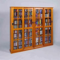 4-Door Glass CD/DVD Wall Rack Media Storage - MS-1400X