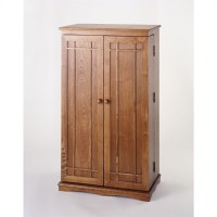 "40"" CD DVD Media Storage Cabinet in Dark Oak - CD-612D"