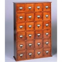 Leslie Dame 24-Drawer CD Media Storage Cabinet Walnut | eBay