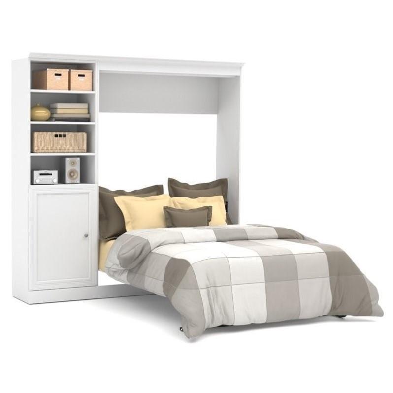 Bestar Versatile 843939 Full Wall Bed With Door Storage Unit