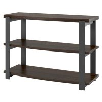Console Table in Espresso and Black - 5352096COM