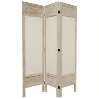 Oriental Furniture Tall Solid Frame 3 Panel Room Divider ...