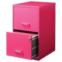 Hirsh 2 Drawer File Cabinet in Pink - 20879