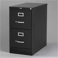 2 Drawer Letter File Cabinet in Black - 17890