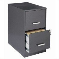 2 Drawer Letter File Cabinet in Charcoal - 16871
