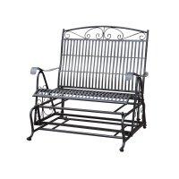 Iron High-Back Patio Double Glider - 3458