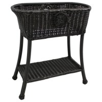 Oval Patio Plant Stand in Antique Black - 3198-AB