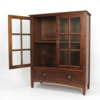 1 Shelf Barrister Bookcase with Glass Door in Brown - 9122