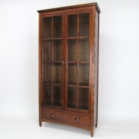 Barrister Bookcase with Glass Door in Brown - 9124