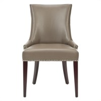 Safavieh Amelia Birch and Leather Dining Chair in Clay ...