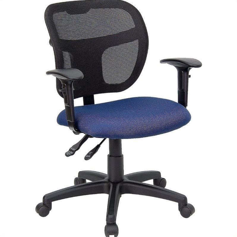 Mid Back Mesh Task Office Chair In Navy Blue Wl A7671syg