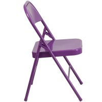 Metal Folding Chair in Purple - HF3-PUR-GG