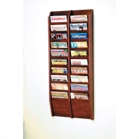 Wooden Mallet 20 Pocket Wall Mount Magazine Rack in ...