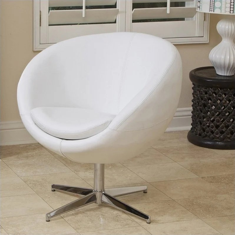 Deals On Sofas And Loveseats Trent Home Daniel Leather Egg Chair In White - 896112cy