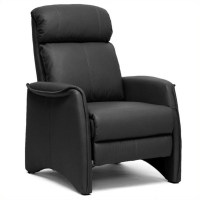Aberfeld Faux Leather Recliner Club Chair in Black - A-062 ...