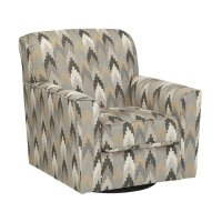 Ashley Braxlin Swivel Accent Chair in Charcoal - 8850244
