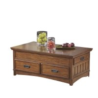 Ashley Cross Island Lift Top Coffee Table in Medium Brown ...