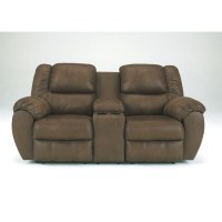 Ashley Furniture Quarterback Double Reclining Loveseat in ...
