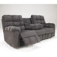 Ashley Furniture Acieona Microfiber Reclining Sofa in ...