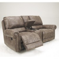Ashley Furniture Oberson Double Reclining Loveseat in ...
