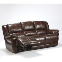 Ashley Furniture Lenoris Leather Power Reclining Sofa in ...