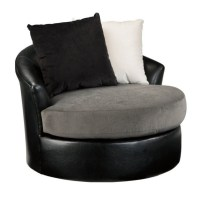 Ashley Armant Swivel Accent Chair in Ebony - 2020044
