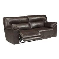 Ashley Furniture Barrettsville Leather Reclining Sofa in ...