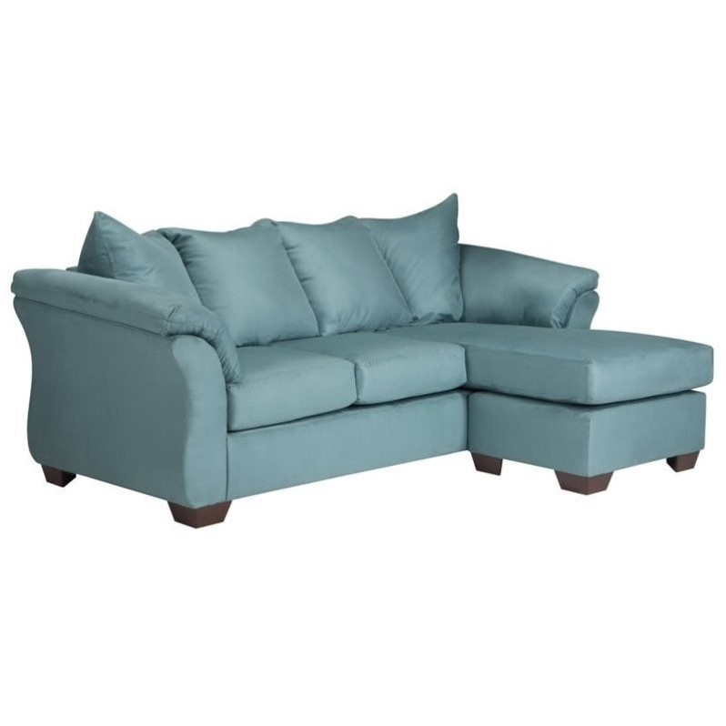 Darcy Sofa Ashley Review Ashley Darcy Fabric 2 Piece Chaise Sofa In Sky - 7500618
