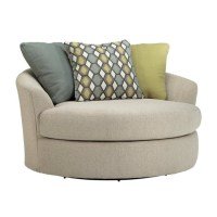 Ashley Casheral Fabric Oversized Swivel Accent Chair in ...