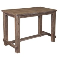 Ashley Pinnadel Bar Height Dining Table in Light Brown ...